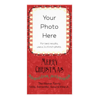 Merry Christmas Personalized Decorated Personalized Photo Card