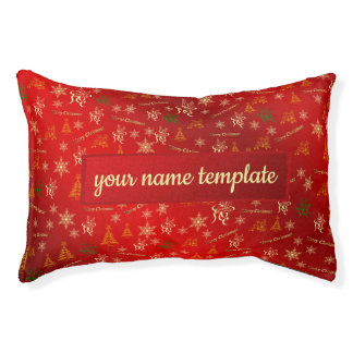 merry christmas pet beds