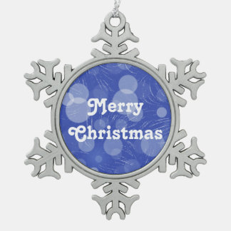 Merry Christmas Pewter Snowflake Decoration