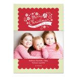 Merry Christmas Photo Card 13 Cm X 18 Cm Invitation Card