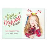 Merry Christmas Photo card / Adorable / Cute 13 Cm X 18 Cm Invitation Card