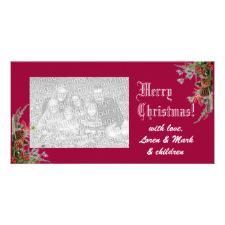Merry Christmas Photo Card -cherry