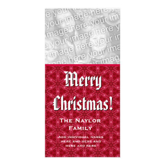 Merry Christmas Photo Card Custom Family Name