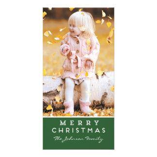 Merry Christmas Photo Card - Green Overlay