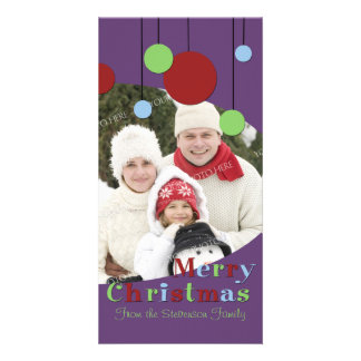 Merry Christmas Photo Card Modern Decorations