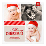 Merry Christmas Photo Card | Red, White, Cream Personalised Announcements