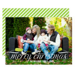 Merry Christmas Photo Card | White Script Overlay 13 Cm X 18 Cm Invitation Card
