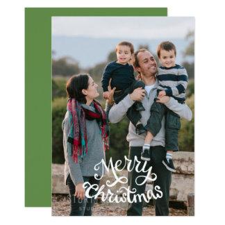 Merry Christmas photo, customizable color Card
