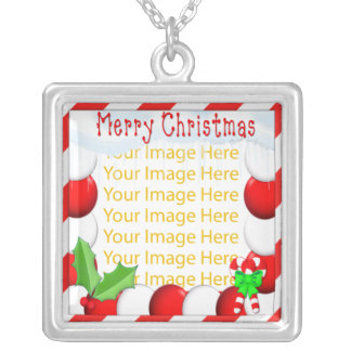 Merry Christmas Photo Frame  Necklace