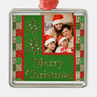 Merry Christmas Photo Keepsake Ornament
