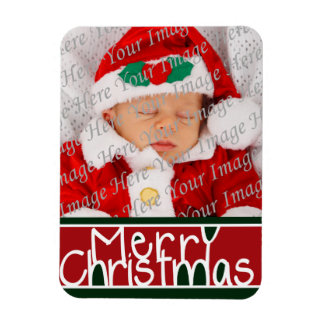 Merry Christmas Photo Magnet