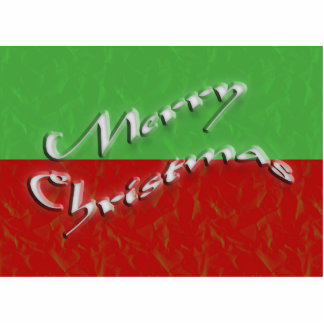 merry christmas photo sculpture magnet