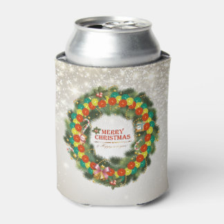 Merry Christmas Pickleball 1 Can Cooler