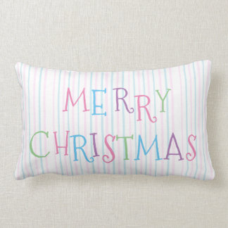 Merry Christmas Pillow Pastel Colors