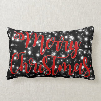 Merry Christmas pillow starry night