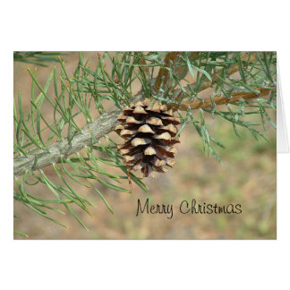 Merry Christmas Pine Cone Card