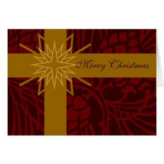 Merry Christmas Pine Cone Present III Cards