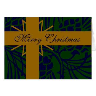 Merry Christmas Pine Cone Present III Greeting Card