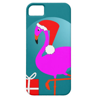 Merry Christmas Pink Flamingo Cute Trendy Graphic Case For The iPhone 5