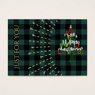 Merry Christmas | Plaid Holiday Gift Certificate
