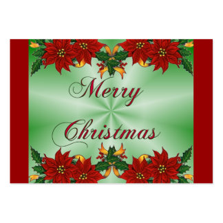 Merry Christmas Poinsettia Recipe Card Pack Of Chubby Business Cards