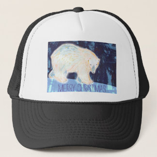 Merry Christmas Polar Bear Trucker Hat