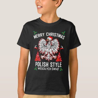 Merry Christmas Polish Style T-Shirt