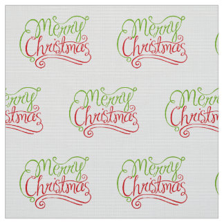 "Merry Christmas Polyester Weave (58"" width) Fabric"