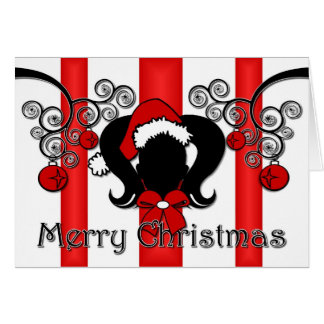 Merry Christmas Ponytails Card