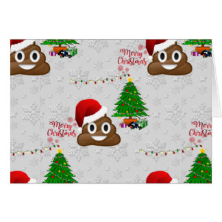 merry christmas poo emoji card