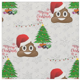 merry christmas poo emoji fabric