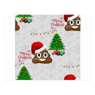 merry christmas poo emoji postcard
