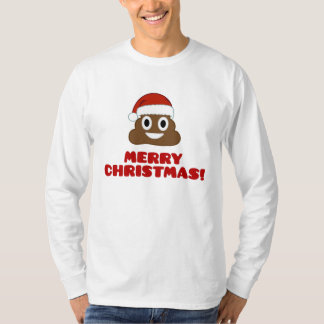 Merry Christmas Poo Emoji T-shirt