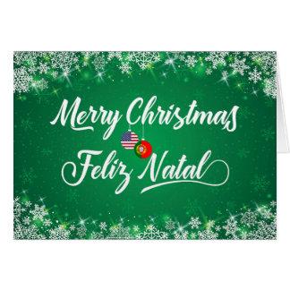 Merry Christmas Portuguese Card, Feliz Natal Card
