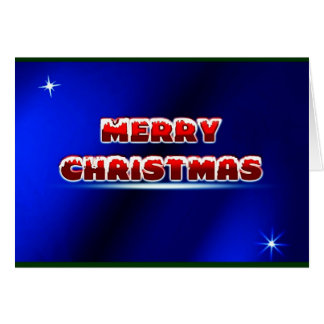 Merry Christmas Postage Stamp ~.jpg Greeting Card