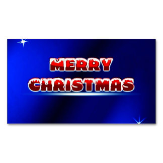 Merry Christmas Postage Stamp ~.jpg Magnetic Business Cards