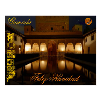 Merry Christmas postcard Alhambra landscape