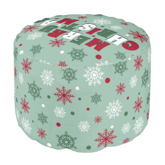 Merry Christmas Pouf