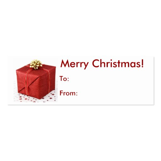 Merry Christmas Present Tag Business Cards