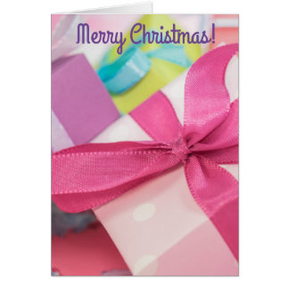Merry Christmas Presents Greeting Card