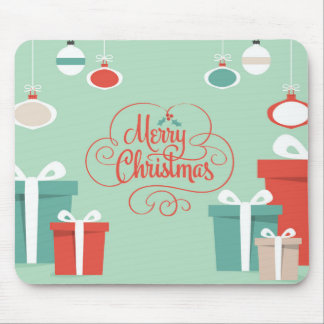 Merry Christmas presents mousepad