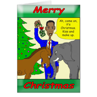 Merry Christmas President Obama Greeting Card