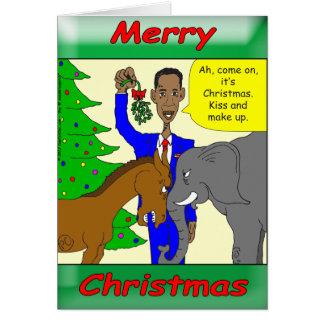 Merry Christmas President Obama Greeting Card