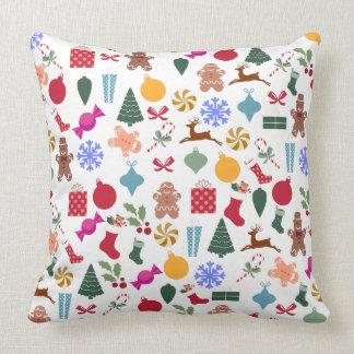 Merry Christmas Print Throw Cushions