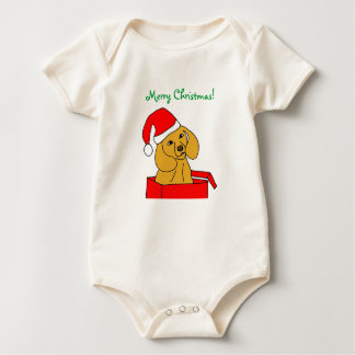 Merry Christmas! Puppy Baby outfit Baby Bodysuit