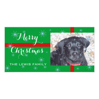 Merry Christmas Puppy -Photo Card Picture Card