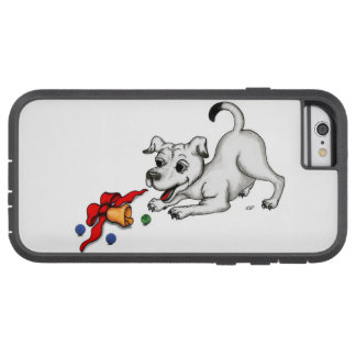 Merry Christmas! Puppy with Bell and Ball Tough Xtreme iPhone 6 Case