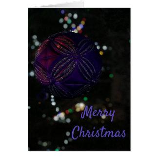 Merry Christmas Purple Ornament Card