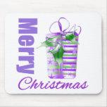 Merry Christmas Purple Theme Whimsical Gift Box v2 Mouse Pad
