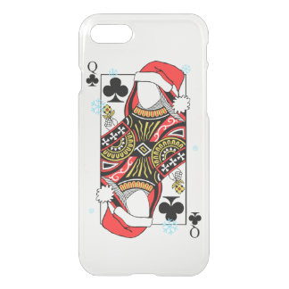Merry Christmas Queen of Clubs - Add Your Images iPhone 7 Case